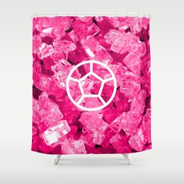 Rose Quartz Candy Gem Shower Curtain