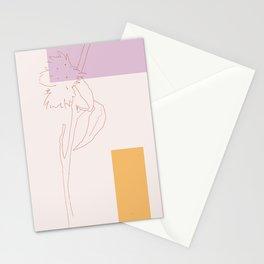 Milkweed Seed Pod Botanical Line Drawing Stationery Cards