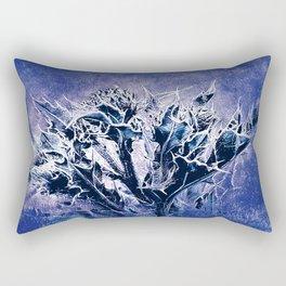 Thistle and Weeds_deep purple Rectangular Pillow