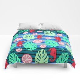 Fruity underwater Comforters