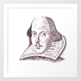 Shakespeare Art Print