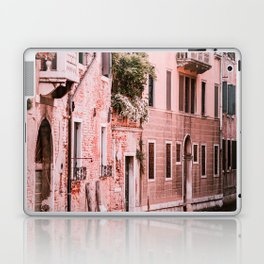 Venice pink canal with old buildings travel photography Laptop & iPad Skin