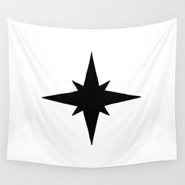 Black North Star Wall Tapestry