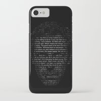 house md iPhone & iPod Cases featuring House MD Quotes Print (It's never lupus) by Olechka