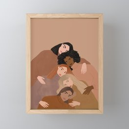 Women supporting women  Framed Mini Art Print