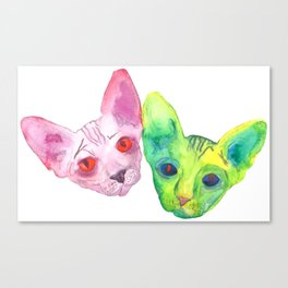 Colored Cats Canvas Print