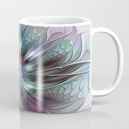 Colorful Fantasy Abstract Modern Fractal Flower Coffee Mug