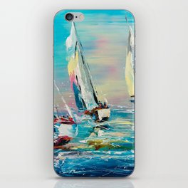 YACHTS ON THE WIND iPhone Skin