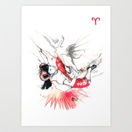 All-powerful Aries Art Print