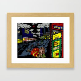 Inner City Blues Framed Art Print