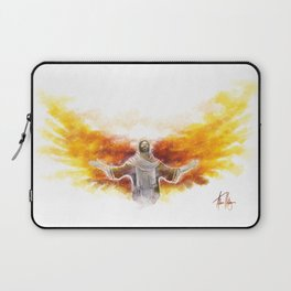 On Wings Like Eagles (Isaiah 40:31) Laptop Sleeve