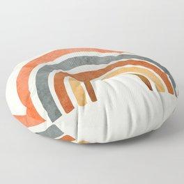 Abstract Rainbow 88 Floor Pillow