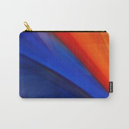 Bright orange and blue Carry-All Pouch