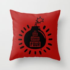One, Two, Three, Four Throw Pillow