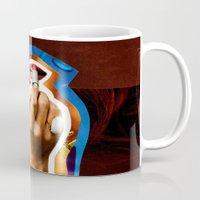 lipstick Mugs featuring Lipstick by rodalume
