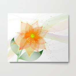 Fancy colorful abstract flower Metal Print