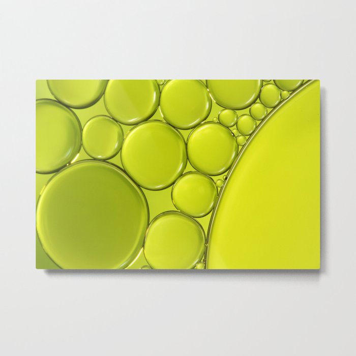 Simply Lime III Metal Print