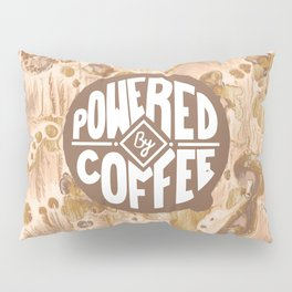 powered by coffee cream Pillow Sham