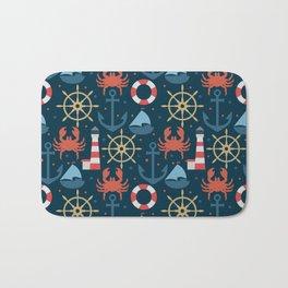 Sea blue pattern Bath Mat