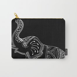 Elephant doodle in black and white. Carry-All Pouch