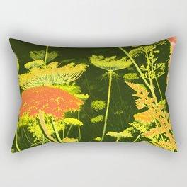 Pretty Wild Carrot Flower Blooming Rectangular Pillow