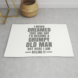 GRUMPY OLD MAN Rug