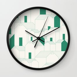 Hill Houses Wall Clock