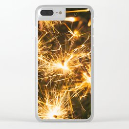 Festive Fireworks Sparklers For Holidays Clear iPhone Case