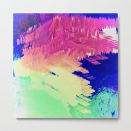 Wild Color Abstract Metal Print
