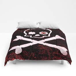 Jolly Roger With Eyeballs Comforters