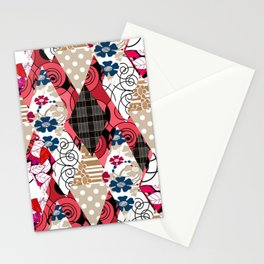 Colorful national patchwork of 12 Stationery Cards
