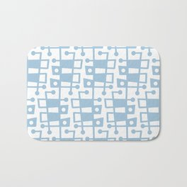 Mid Century Modern Abstract 213 Pale Blue Bath Mat