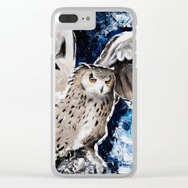 """Owl - Animal - """"I own the night..."""" by LiliFlore Clear iPhone Case"""