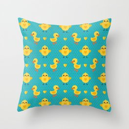 CHICKS AND DUCKLINGS Throw Pillow
