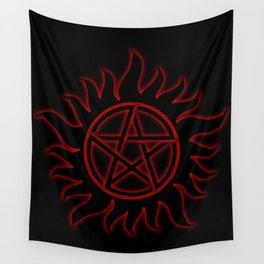 Anti Possession Sigil Red Glow Wall Tapestry