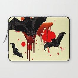 DECORATIVE FLYING BLACK BATS & HALLOWEEN BLOODY ART Laptop Sleeve