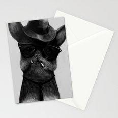 French Dog Blues Stationery Cards