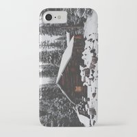 cabin iPhone & iPod Cases featuring Winter Cabin by Kevin Russ