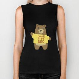 Come At Me Bro Bear TShirt Funny Bear Meme Lover Biker Tank
