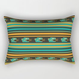 Aztec Mexican Mythological Jaguar Pattern Rectangular Pillow
