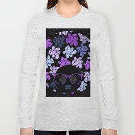 Afro Diva Purple Long Sleeve T-shirt