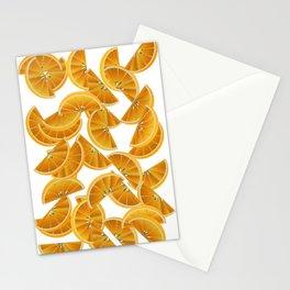 Orange Slices and Juice Stationery Cards