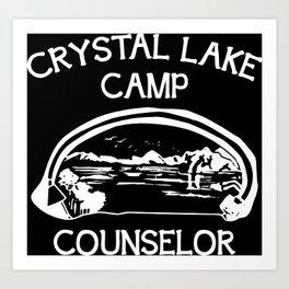Camp Crystal Lake Counselor Art Print