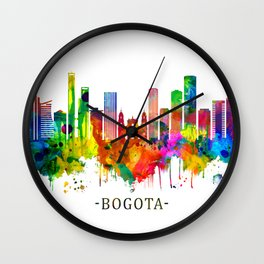 Bogota Colombia Skyline Wall Clock