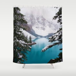 Paradise in the Mountains (Color) Shower Curtain