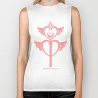 martell Biker Tanks featuring Sailor Moon Inspired Wand Pink by G Martell