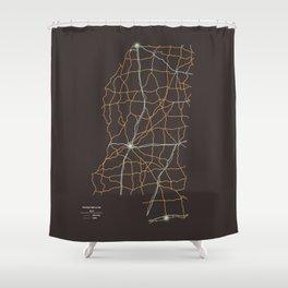 Mississippi Highways Shower Curtain