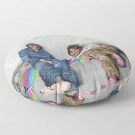 John and Paul get away from it all Floor Pillow