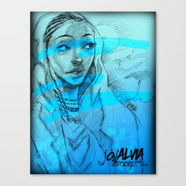 Hints Of Blue  Series1 Canvas Print