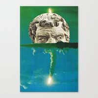 horror Canvas Prints featuring Horror by tareco